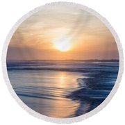 Constant Motion Round Beach Towel