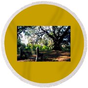 Round Beach Towel featuring the photograph New Orleans Contemplating Solitude by Michael Hoard