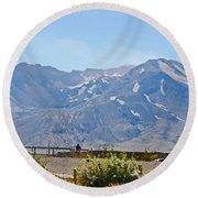 Contemplation - Mount St. Helens Round Beach Towel