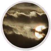 Round Beach Towel featuring the photograph Contrast by Clare Bevan