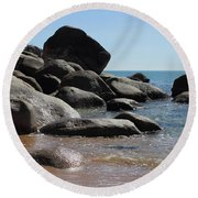 Contrast Round Beach Towel