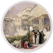 Convent Of St. Catherine, Mount Sinai Round Beach Towel