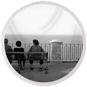 Conversations By The Sea Round Beach Towel