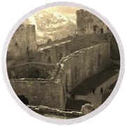 Conwy Castle Round Beach Towel by Richard Brookes