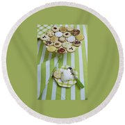 Cookies And Icing Round Beach Towel