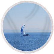 Cool Breeze Round Beach Towel by George Katechis