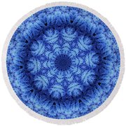 Round Beach Towel featuring the digital art Cool Down Series #1 Snowflake by Lilia D