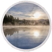 Cool November Morning Round Beach Towel