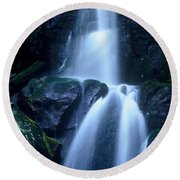 Round Beach Towel featuring the photograph Cool Sanctuary by Rodney Lee Williams