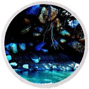 Coal Creek Cedar Canyon Utah Round Beach Towel