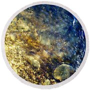 Round Beach Towel featuring the photograph Cool Waters...of The Rifle River by Daniel Thompson