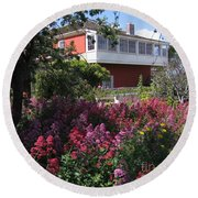 Round Beach Towel featuring the photograph Cooper-molera Garden by James B Toy