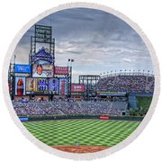 Coors Field Round Beach Towel by Ron White