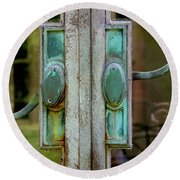 Copper Doorknobs Round Beach Towel