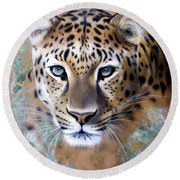 Copper Stealth - Leopard Round Beach Towel