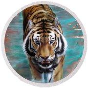 Copper Tiger 3 Round Beach Towel