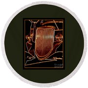 Round Beach Towel featuring the photograph Copper Works by Bobbee Rickard