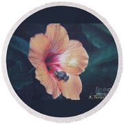 Round Beach Towel featuring the photograph Coqui  by The Art of Alice Terrill