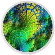 Coral Electric Round Beach Towel