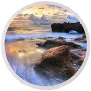 Coral Garden Round Beach Towel by Debra and Dave Vanderlaan