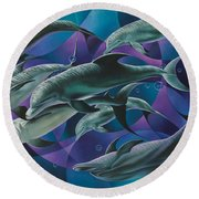 Corazon Del Mar  Round Beach Towel