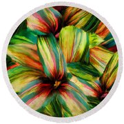 Cordyline Round Beach Towel