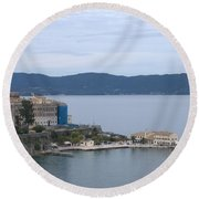 Corfu City 4 Round Beach Towel