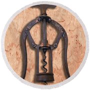 Heeley A1 Patent Double Lever Corkscrew Painting Round Beach Towel