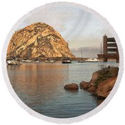 Corner Harbor Round Beach Towel
