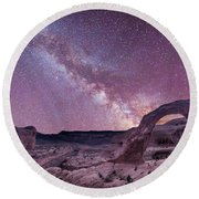 Corona Arch Milky Way Round Beach Towel by Michael Ver Sprill