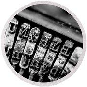 Corona Four Typewriter Detail Round Beach Towel