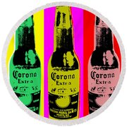Corona Beer Round Beach Towel