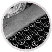Corona Zephyr Typewriter Round Beach Towel
