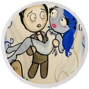 Corpse Bride Round Beach Towel