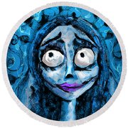Corpse Bride Phone Sketch Round Beach Towel