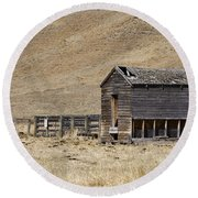 Corral Round Beach Towel by Dee Cresswell