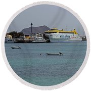 Corralejo Harbour Round Beach Towel