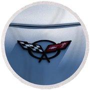 Corvette C5 Badge Round Beach Towel
