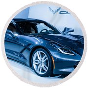 Corvette Stingray Round Beach Towel