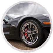 Corvette Z06 Round Beach Towel by Gill Billington