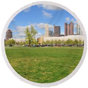 D7l-89 Cosi Columbus Photo Round Beach Towel