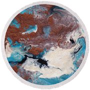 Cosmic Blend Two Round Beach Towel