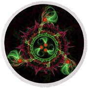 Cosmic Cherry Pie Round Beach Towel