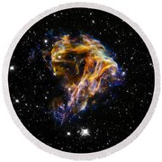 Cosmic Heart Round Beach Towel