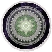 Cosmic Medallians Rgb 2 Round Beach Towel
