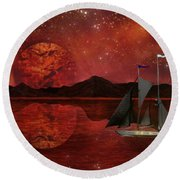 Cosmic Ocean Round Beach Towel by Michael Rucker