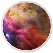 Cosmic Orion Nebula Round Beach Towel