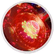 Cosmic Space Station 2 Round Beach Towel
