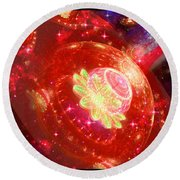 Cosmic Space Station Round Beach Towel