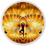 Round Beach Towel featuring the digital art Cosmic Spiral Ascension 23 by Derek Gedney
